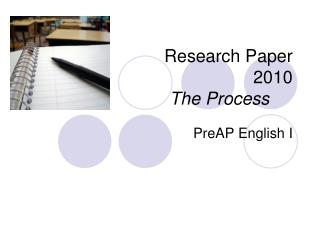Research Paper  2010 The Process