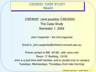 CSE9020  CASE STUDY   Week3