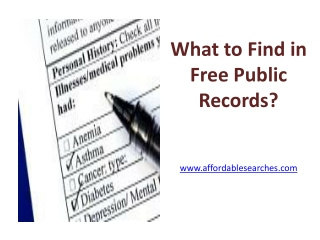 What to Find in Free Public Records?