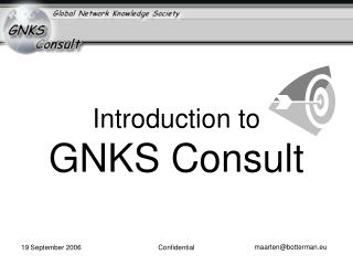 Introduction to GNKS Consult