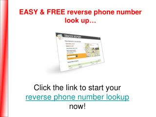 Free Reverse Phone Number Lookup