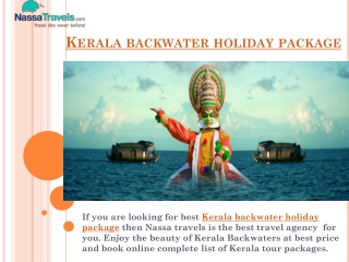 Best Kerala backwater holiday package with Nassa Travels
