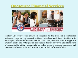 Military One Source Counseling