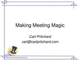 Making Meeting Magic