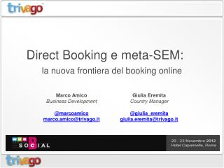 Direct  Booking  e  meta-SEM:
