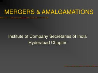 MERGERS  AMALGAMATIONS