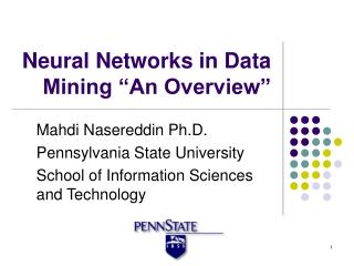 "Neural Networks in Data Mining ""An Overview"""