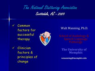 The National Stuttering Association Scottsdale, AZ - 2009