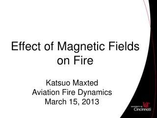 Effect of Magnetic Fields on Fire