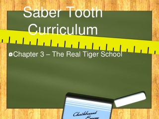 Saber Tooth Curriculum Chapter 3