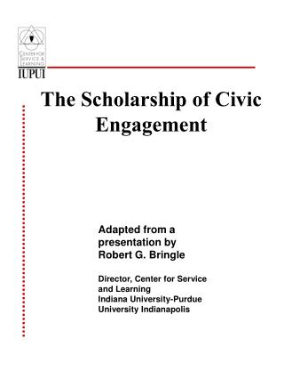 The Scholarship of Civic Engagement