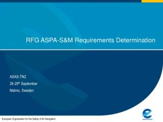 RFG ASPA-S&M Requirements Determination