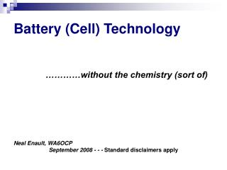 Battery Cell Technology