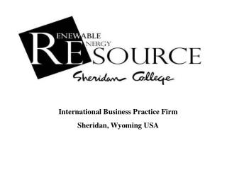 International Business Practice Firm Sheridan, Wyoming USA