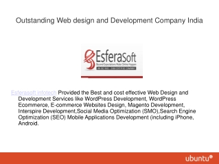 Outstanding Web design and Development Company India