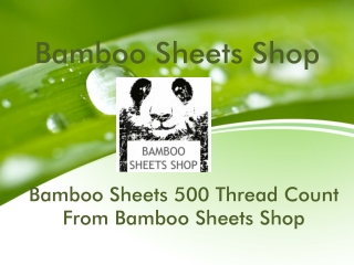 Bamboo sheets 500 thread count from bamboo sheets shop
