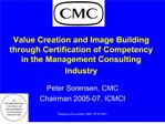 value creation and image building through certification of competency in the management consulting industry