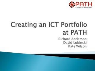 Creating an ICT Portfolio at PATH