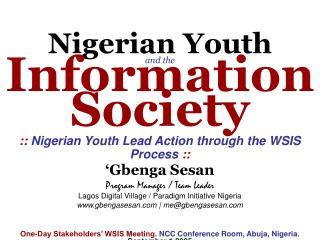 Nigerian Youth and the Information Society