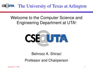 Welcome to the Computer Science and Engineering Department at UTA
