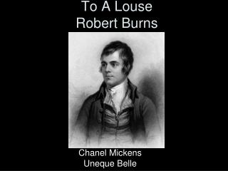 To A Louse Robert Burns