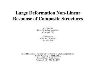 Large Deformation Non-Linear Response of Composite Structures