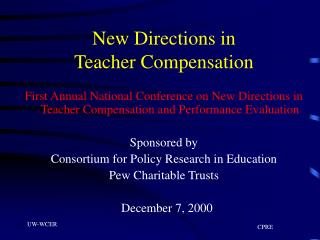 New Directions in  Teacher Compensation