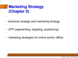 Marketing Strategy (Chapter 5)