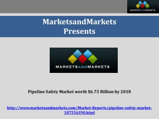 Pipeline Safety Market worth $6.73 Billion by 2018