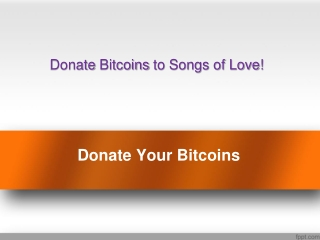 Donate Your Bitcoins to Help Children
