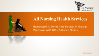 All Nursing Health Services Inc