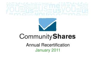 Annual Recertification January 2011