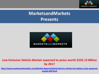 Low Emission Vehicle Market Forecast 2017