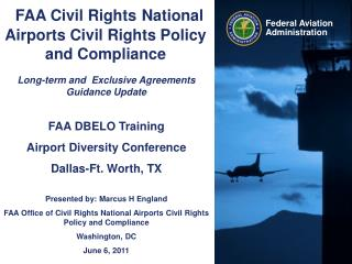 FAA Civil Rights National Airports Civil Rights Policy and Compliance