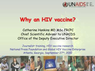 Why an HIV vaccine?