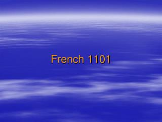 French 1101