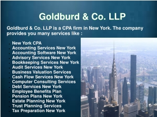 Business Valuation Services New York