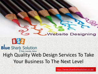 quality web design services to take business to next level