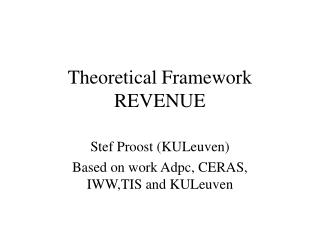 Theoretical Framework  REVENUE