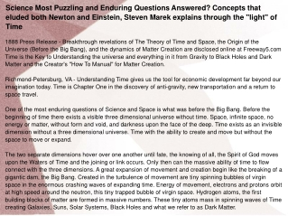 Science Most Puzzling and Enduring Questions Answered?