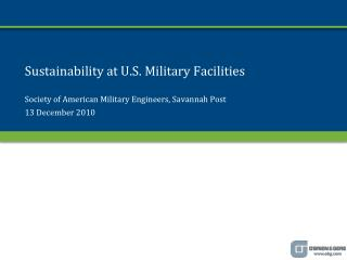Sustainability at U.S. Military Facilities