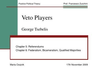 Veto Players  George Tsebelis