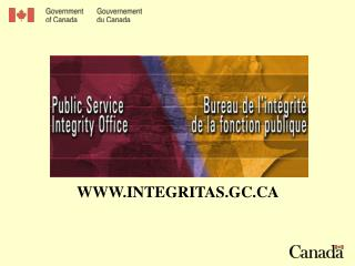 WWW.INTEGRITAS.GC.CA
