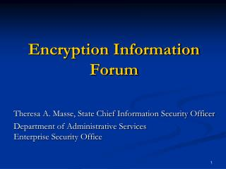 Encryption Information Forum