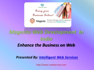 Magento Web Development in India