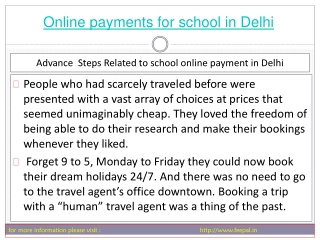 Best portal for best online payment for school in Delhi