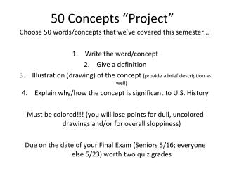 "50 Concepts ""Project"""