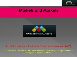 Acute Lymphocytic Leukemia Therapeutics Market worth $3.88 B