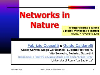 Networks in Nature