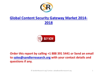 2018 Global Content Security Gateway Market Analysis and For